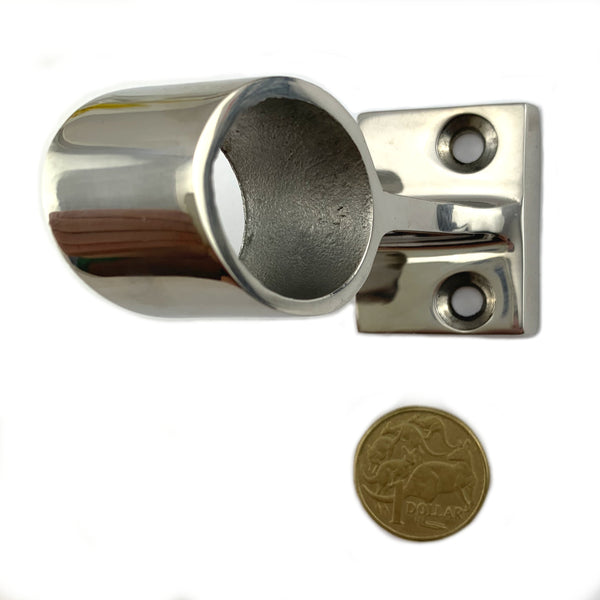 Centre Stanchion, 60-degree, size 25mm stainless steel rail fitting. Australia.