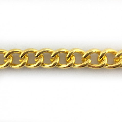 Gold plated curb chain. C70. Jewellery chain. Australia.