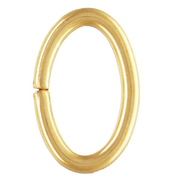 Jump Ring - Oval - Gold Plated - 12mm x 1.5mm - Qty 100. Melbourne Australia