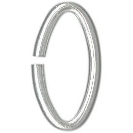 Silver Plated Oval Jump Ring - 10mm x 1.5mm - Qty 1000. Australia.