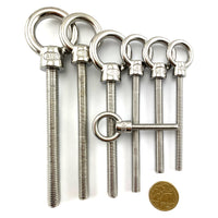 Lifting Eye Bolts in Marine Grade Stainless Steel. Australia.