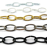 Lighting Chain in Black and various other colours, size 3.8mm. Order by the metre. Melbourne and Australia wide