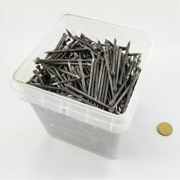 Bullet Head Nails 3.75mm in a 5kg Plastic Bucket Melbourne Australia. Australian made nails.