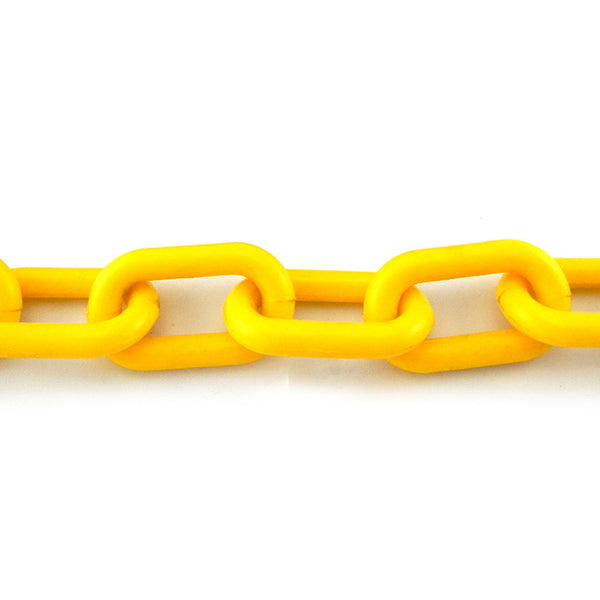 Plastic Chain in Yellow, Size: 6mm, by the metre. Melbourne Australia