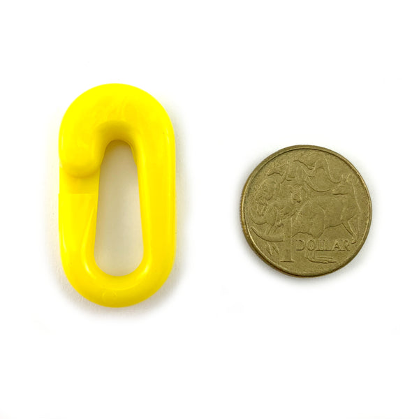 Plastic Chain Connecting Links - Yellow - 6mm. Australia
