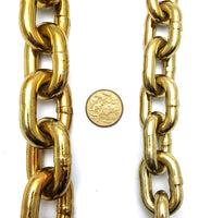 Hardened security chain, size: 10mm and 8mm x 2 metres long. Melbourne, Australia.