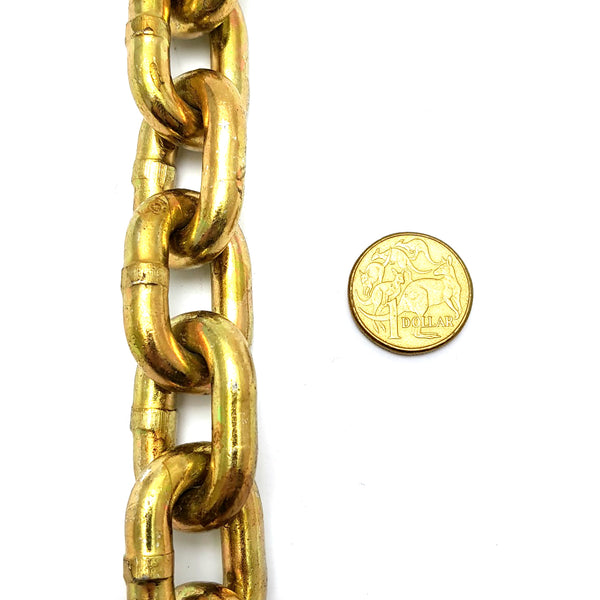 Hardened security chain, size: 8mm x 50cm long. Melbourne, Australia.