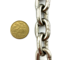 Stainless Steel Welded Short Link Chain - 6mm - By The Metre. Australia.