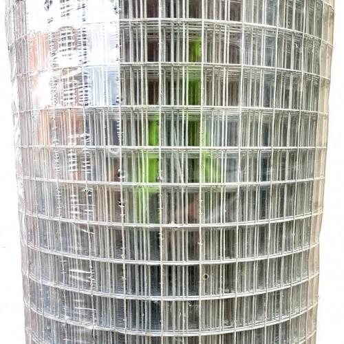 Galvanised welded wire mesh with 25mm square opening,1.25mm wire, 900mm high. Roll length 30 metres. Melbourne, Australia.