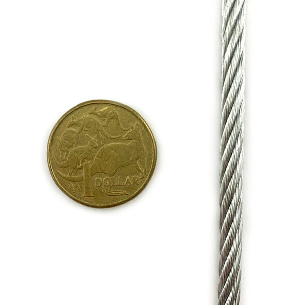 Wire Rope - Galvanised - 5mm - By The Metre