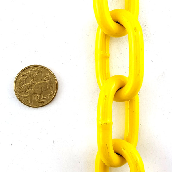 Welded Steel Chain - Yellow Powder Coated - 8mm x 25kg. Australia wide delivery.