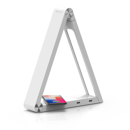 Creative Triangle USB LED Desk Lamp with Wireless Charging-Bangcool