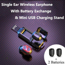 Load image into Gallery viewer, Bluetooth 5.0 Single Ear Wireless Earphone