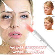 Load image into Gallery viewer, 2-IN-1 RED AND BLUE LIGHT THERAPY LASER WRINKLE REMOVAL PEN