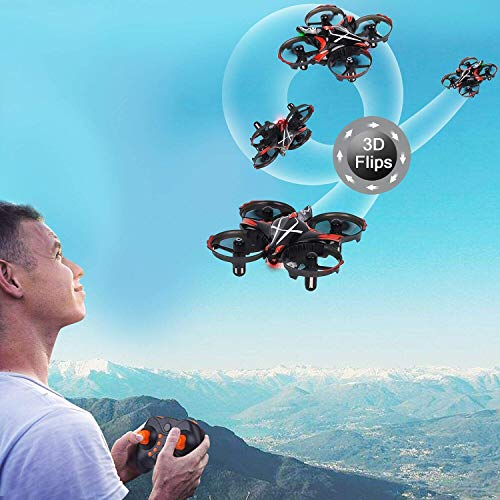 Mini Quadcopter Drones-Micro Interactive Gesture Sensing Drone with 6-Axis Gyroscope, Remote Control Helicopter Headless Mode 3D Flip One Key Return Toys for Kids Adults Beginners(Black)-Bangcool
