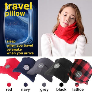 Neck Support Travel Pillow for Airplane Train-Bangcool