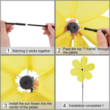 Load image into Gallery viewer, B bangcool Wind Spinners Sunflower Lawn Pinwheels Windmill Party Pinwheel Wind Spinner for Patio Lawn & Garden (Pattern 1)