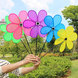 B bangcool Wind Spinners Sunflower Lawn Pinwheels Windmill Party Pinwheel Wind Spinner for Patio Lawn & Garden (Pattern 1)