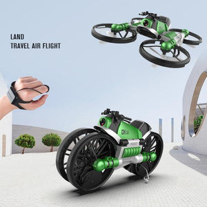 2.4G Deformation Motorcycle Folding Quadcopter Drone