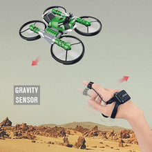 Load image into Gallery viewer, 2.4G Deformation Motorcycle Folding Quadcopter Drone