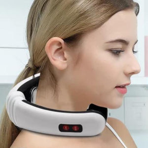 Portable Electric Pulse Neck Massager with Heat-Bangcool