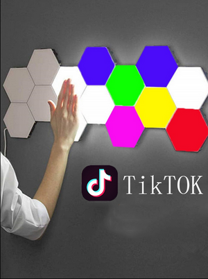 New (Colourful)Modular Hexagonal Led Lamps Touch Sensitive