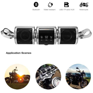 Original Motorcycle Bluetooth Speaker AUX Radio Player Stereo Sound System Waterproof
