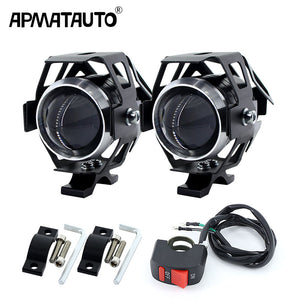 2PCS White motorcycle headlights