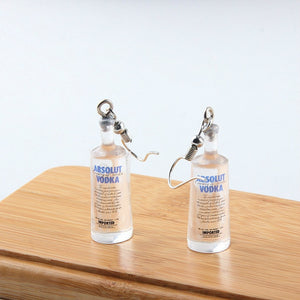 Vodka Bottle Dangle Earrings-Bangcool