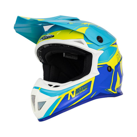 Nitro MX620 Podium JNR Yellow/Light Blue/Dark Blue