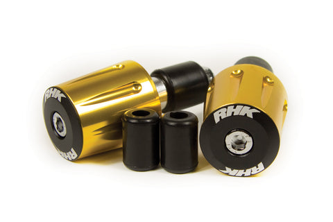 RHK Heavy Duty Handlebar Ends Gold