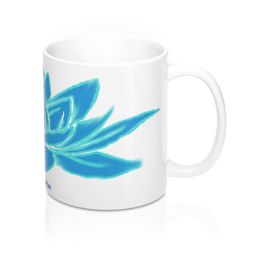 Azure Lotus Mug 11oz