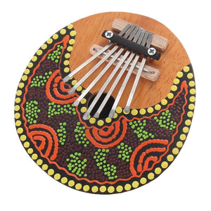 7 key Kalimba Painted Shell