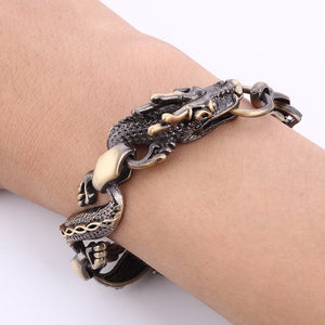 Vintage Fire Dragon Bracelet for Men