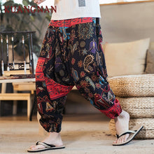 Load image into Gallery viewer, KUANGNAN Harem Pants for Men