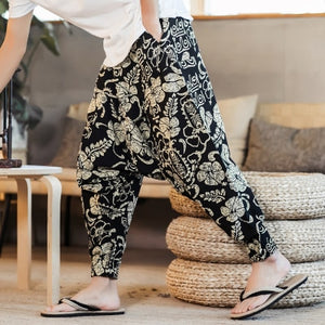 KUANGNAN Harem Pants for Men