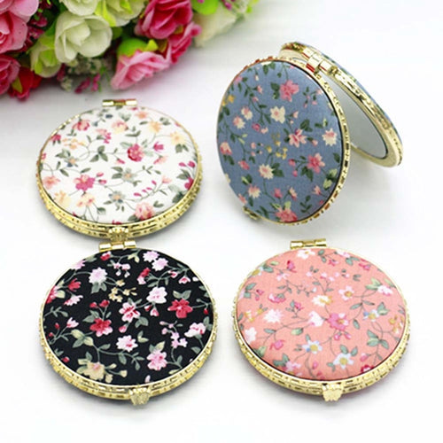 Lady Floral Make Up Mirror