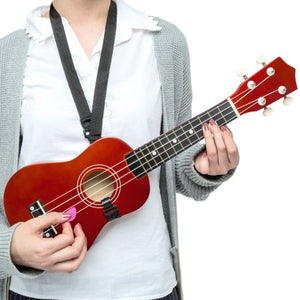 Basswood Ukulele Musical Instrument Starter Kit w/ Waterproof Nylon Carrying Case- Brown