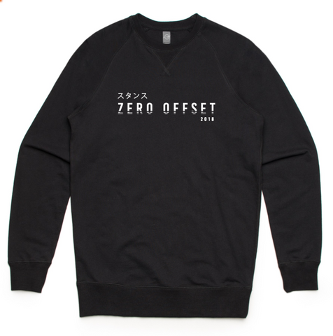 Zero Offset Collection #2 - Black 'Dynasty' Crew Neck
