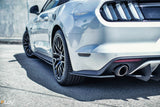 White Ford Mustang S550 FM Rear Spats
