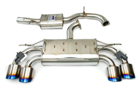 Invidia Catback Exhaust suit Golf R Mk7 suit Factroy Valves, Oval Ti Rolled Tips