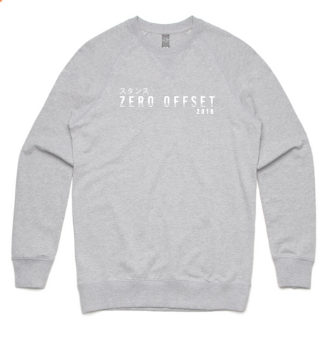 Zero Offset Collection #2 - Grey 'Illusion' Crew Neck