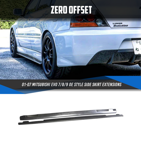 01-07 Mitsubishi EVO 7/8/9 OE Style Side Skirt Extensions
