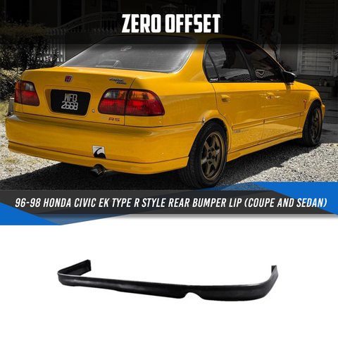 96-98 Honda Civic EK Type R Style Rear Bumper Lip (Coupe and Sedan)