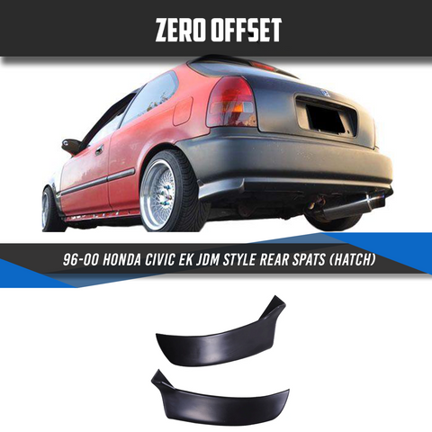 96-00 Honda Civic EK JDM Style Rear Spats (Hatch)