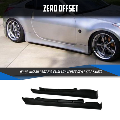 03-08 Nissan 350Z Z33 Fairlady Vertex Style Side Skirts