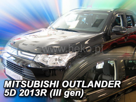 Team Heko Weather Shields - Mitsubishi Outlander MK3 5 Door 12+
