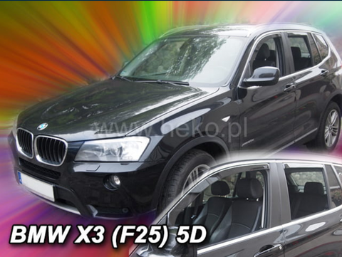 Team Heko Weather Shields - BMW X3 F25 5 Door 10-17