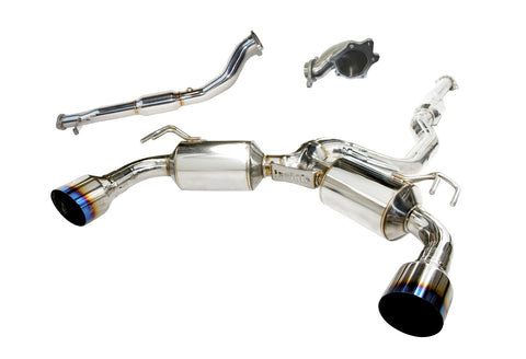 Invidia Turbo Back Dual N1 Titanium Tip Straight Cut - Mitsubishi Lancer EVO X