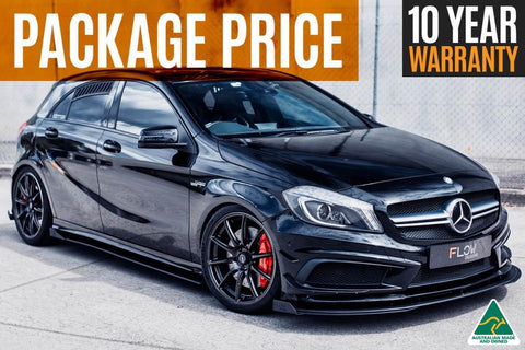 Flow Designs Mercedes-Benz A45 AMG W176 (PFL) Full Lip Splitter Set